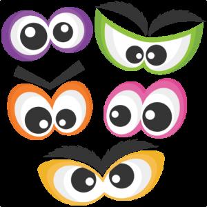 Set of eyes clipart png royalty free download Halloween Spooky Eye Set SVG scrapbook cut file cute clipart ... png royalty free download