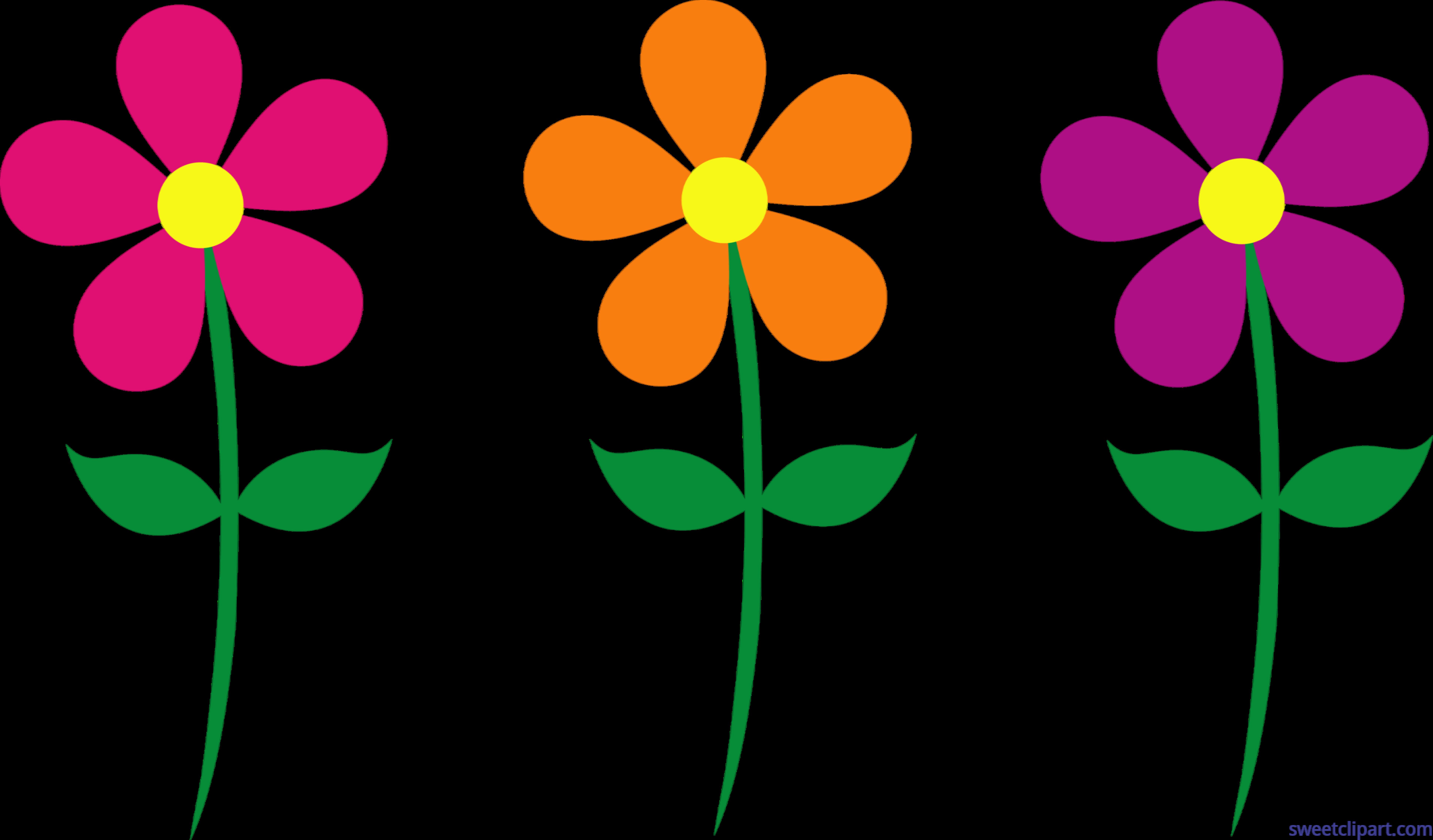 Set of flowers clipart jpg Spring Flowers Set 1 Clip Art - Sweet Clip Art jpg