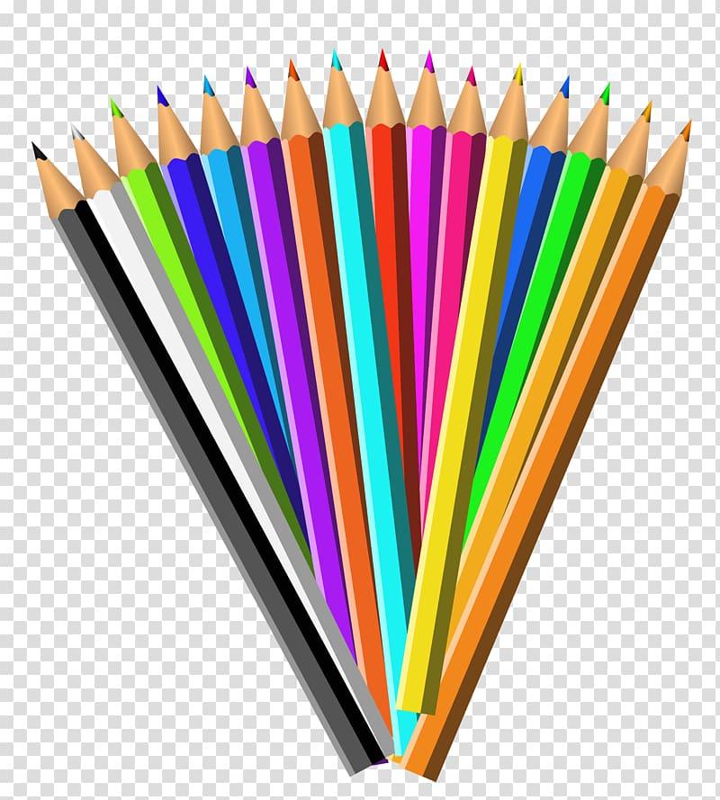 Set transparent color clipart clip free stock Assorted-colored color pencil set illustration, Pencil ... clip free stock