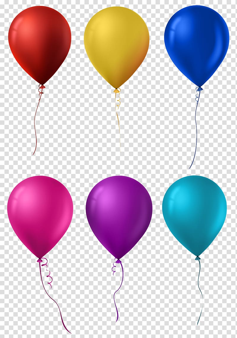Set transparent color clipart clip transparent library Six assorted-color balloons, Hot air balloon , Balloon Set ... clip transparent library