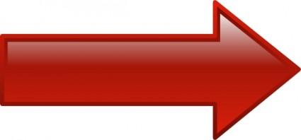 Seta vermelha em clipart svg freeuse library Clipart De Seta Direita Vermelha-Vector Clipart-Free Vector ... svg freeuse library