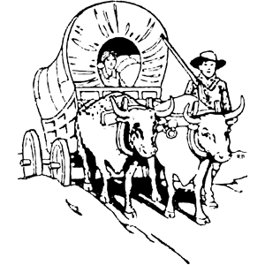 Settlers clipart clip black and white library Wagon Train and People clipart, cliparts of Wagon Train and ... clip black and white library