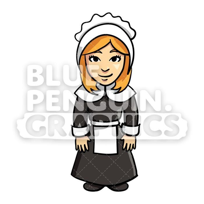 Settlers clipart image download The Settlers Thanksgiving Girl Vector Cartoon Clipart ... image download