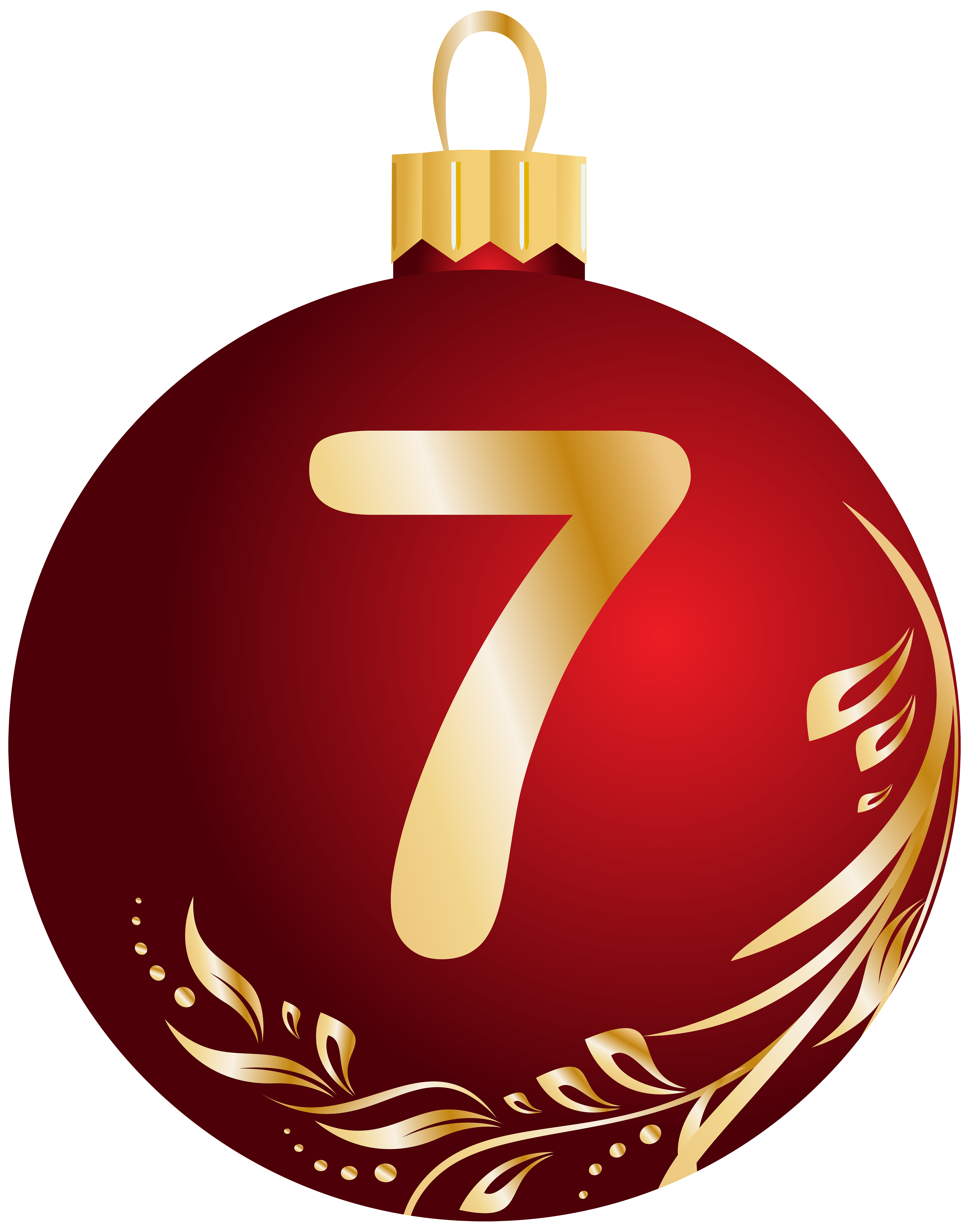 Seven ball clipart banner royalty free stock Christmas Ball Number Seven Transparent PNG Clip Art Image ... banner royalty free stock