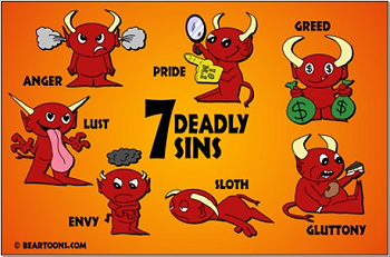 Seven mortal sins clipart clip download Catholic Faith Warriors ~ Fighting the Good Fight +: WHAT ... clip download