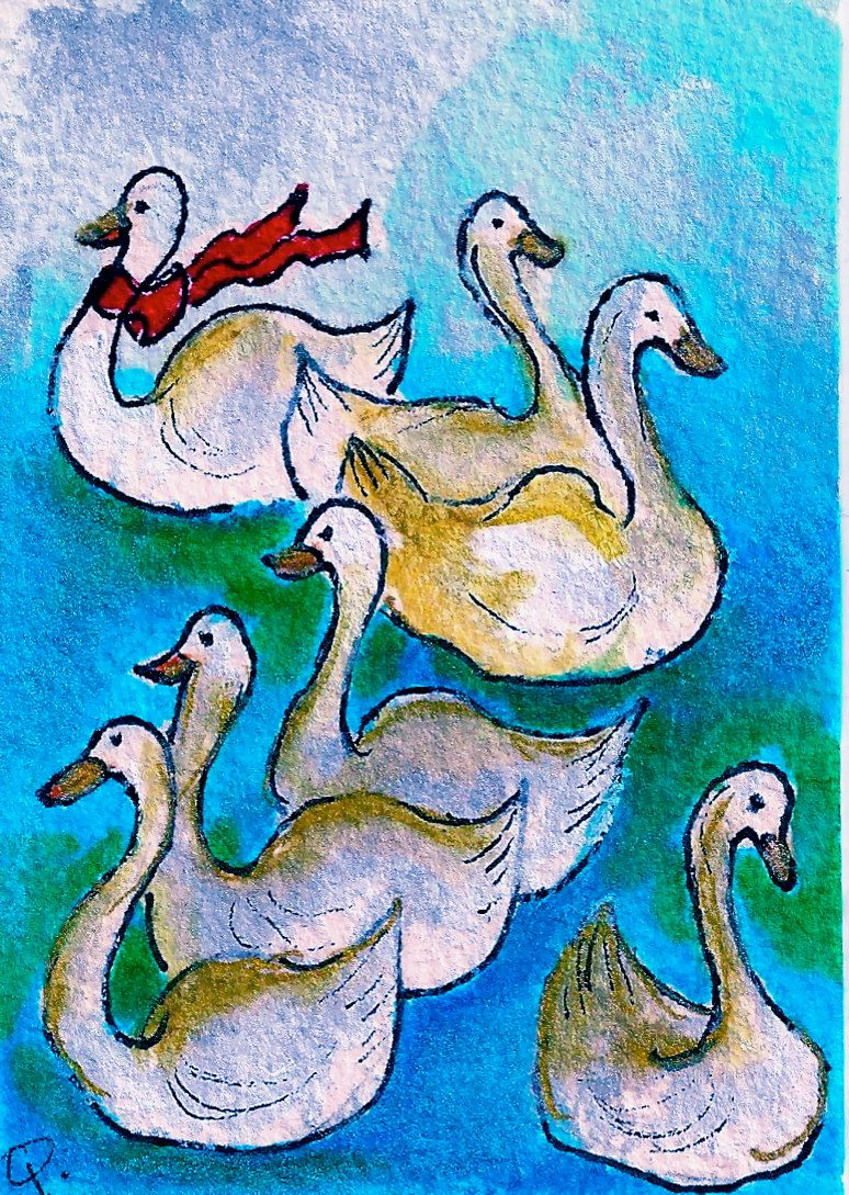 Seven swans a swimming clipart picture Day 7 7 Swans a\'swimming The Twelve Days of Christmas-Seven ... picture