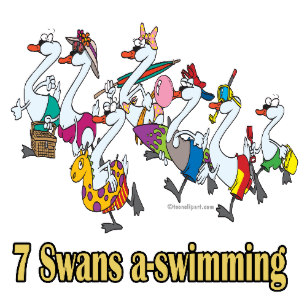 Seven swans a swimming clipart svg transparent stock Seven Swans A Swimming Décor | Zazzle svg transparent stock
