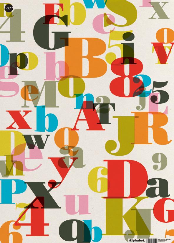 Seventies alphabet clipart clip transparent stock Letter Love: Alphabet Wrap by Nineteen Seventy Three : Wantist clip transparent stock