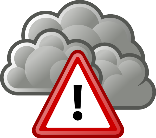 Severe clipart svg black and white Tango Weather Severe Alert Clip Art at Clker.com - vector ... svg black and white