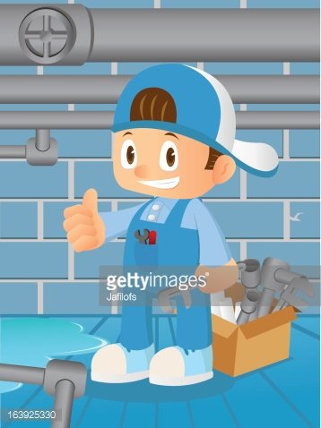 Sewer tunnel clipart picture royalty free Plumber IN Sewer Tunnel premium clipart - ClipartLogo.com picture royalty free