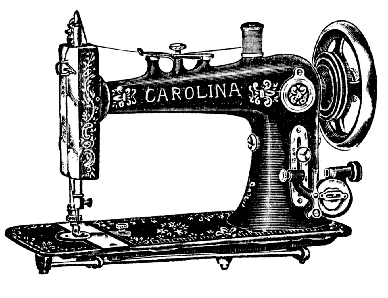 Sewing machine images clipart graphic black and white stock 6 Antique Sewing Machine Pictures! - The Graphics Fairy graphic black and white stock