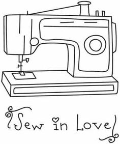Sewing machine outline clipart banner royalty free download 646 Best Desen/Resim images in 2018 | Sewing clipart, Sewing ... banner royalty free download