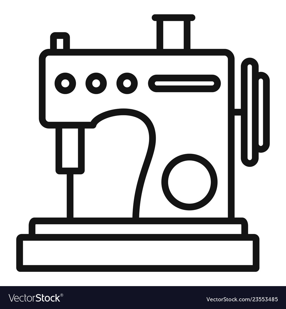 Sewing machine outline clipart jpg royalty free stock Small sew machine icon outline style jpg royalty free stock