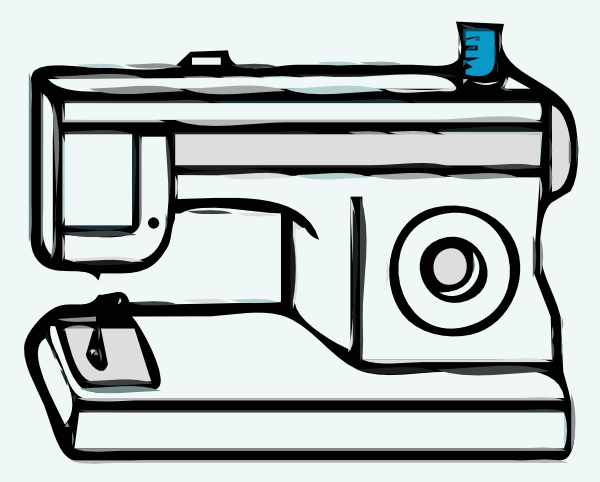 Sewing machine outline clipart jpg free stock Sewing Machine Clip Art at Clker.com - vector clip art ... jpg free stock