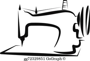 Sewing machine vector clipart clip art library stock Sewing Machine Clip Art - Royalty Free - GoGraph clip art library stock