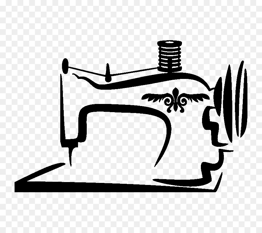 Sewing machine vector clipart royalty free Black Line Background clipart - Illustration, Sewing, White ... royalty free