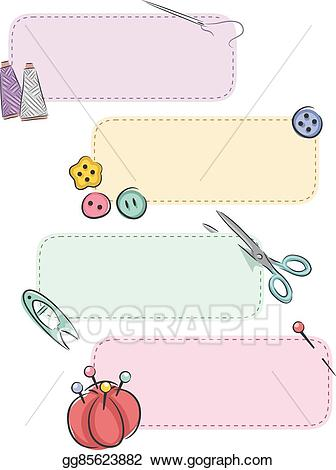Sewing patch clipart picture free download EPS Illustration - Sewing notions patch banners. Vector ... picture free download