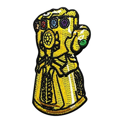 Sewing patch clipart banner library stock Infinity Gauntlet Avengers Embroidered Iron on Sew on Patch banner library stock