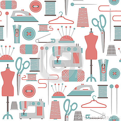 Sewing patterns clipart vector library library Knitting Stock Illustrations – 10,365 Knitting Stock Illustrations ... vector library library