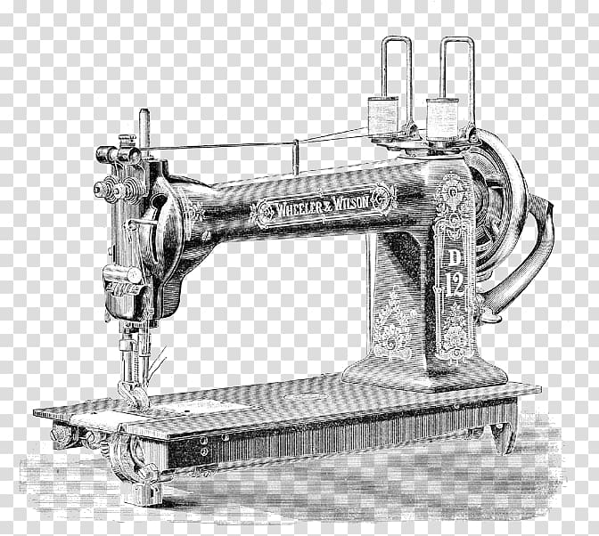 Sewing tools clipart black and white transparent black and white download Sewing Machines Textile Thread, sewing transparent ... black and white download
