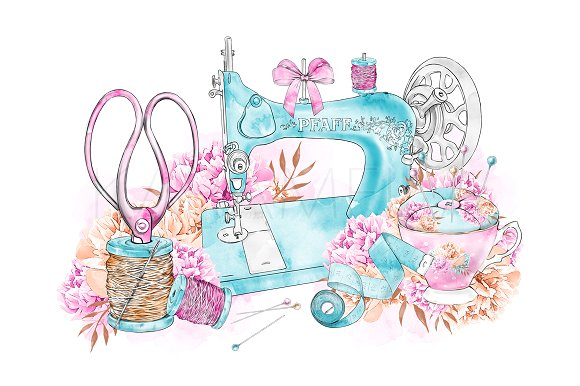 Sewinges clipart image royalty free Sewing Clipart image royalty free