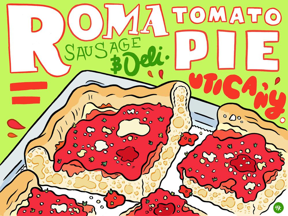 Sfincione clipart banner royalty free library Never Tried Tomato Pie? Then Get Yourself to Utica Right Now ... banner royalty free library