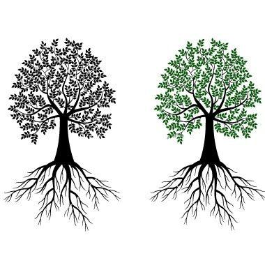 Sgrafitto clipart tree jpg royalty free stock Tree And Roots Symbol   Tree silhouette vector 714704 - by ... jpg royalty free stock