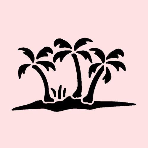 Sgrafitto clipart tree clip art PALM TREES STENCIL PALMS OCEAN PLANT TREE STENCILS CRAFT ... clip art