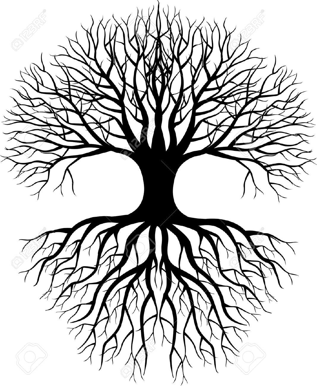 Sgrafitto clipart tree picture black and white library Tree Silhouette Royalty Free Cliparts, Vectors, And Stock ... picture black and white library
