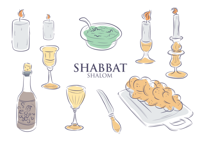 Shabbat wine clipart graphic royalty free library Shabbat Icons Vector - Download Free Vector Art, Stock ... graphic royalty free library