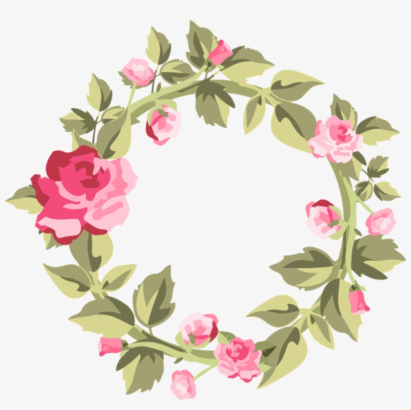 Shabby floweral wreath clipart vector library stock Wreaths - Floral Shabby Floral Tags Png Transparent PNG ... vector library stock