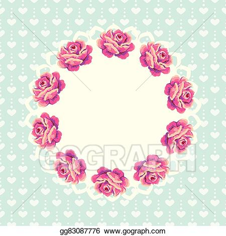 Shabby floweral wreath clipart png free stock EPS Vector - Shabby chic floral wreath. Stock Clipart ... png free stock