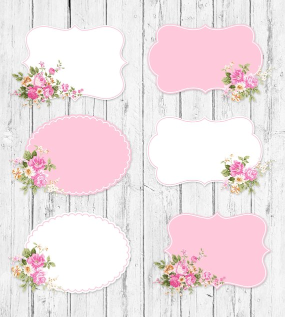 Shabby frame clipart svg free library Shabby Chic Labels, Shabby Chic Frames, Floral Shabby Chic ... svg free library