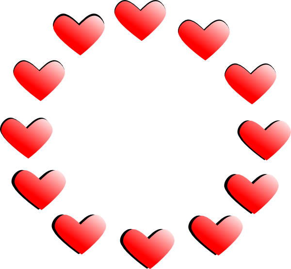 Shaded heart clipart picture freeuse library Shaded Hearts Clip Art at Clker.com - vector clip art online ... picture freeuse library