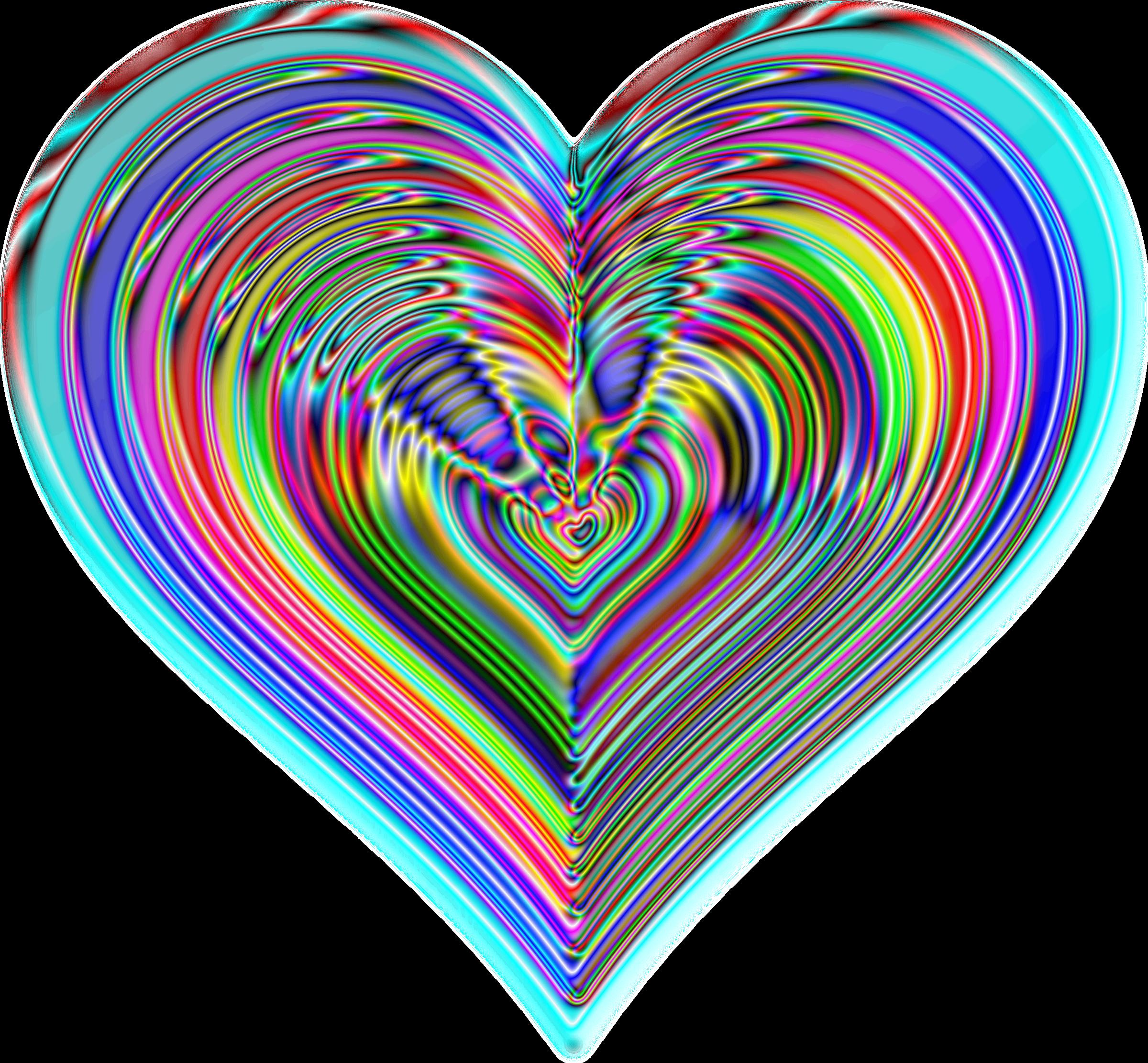 Shaded heart clipart clip art free Clipart - Rainbowrific Heart Enhanced 2 clip art free