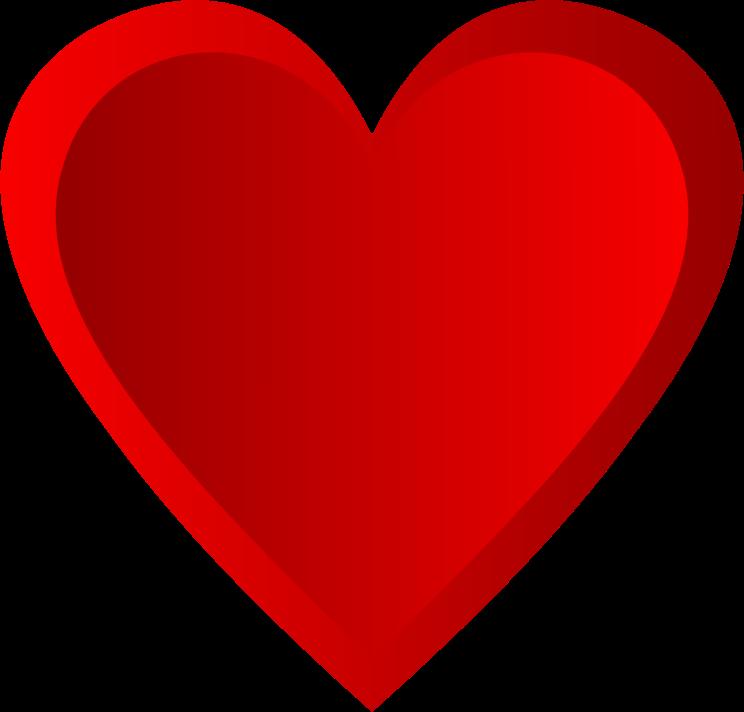 Shaded heart clipart clip art stock Clipart - Red Shaded Heart clip art stock