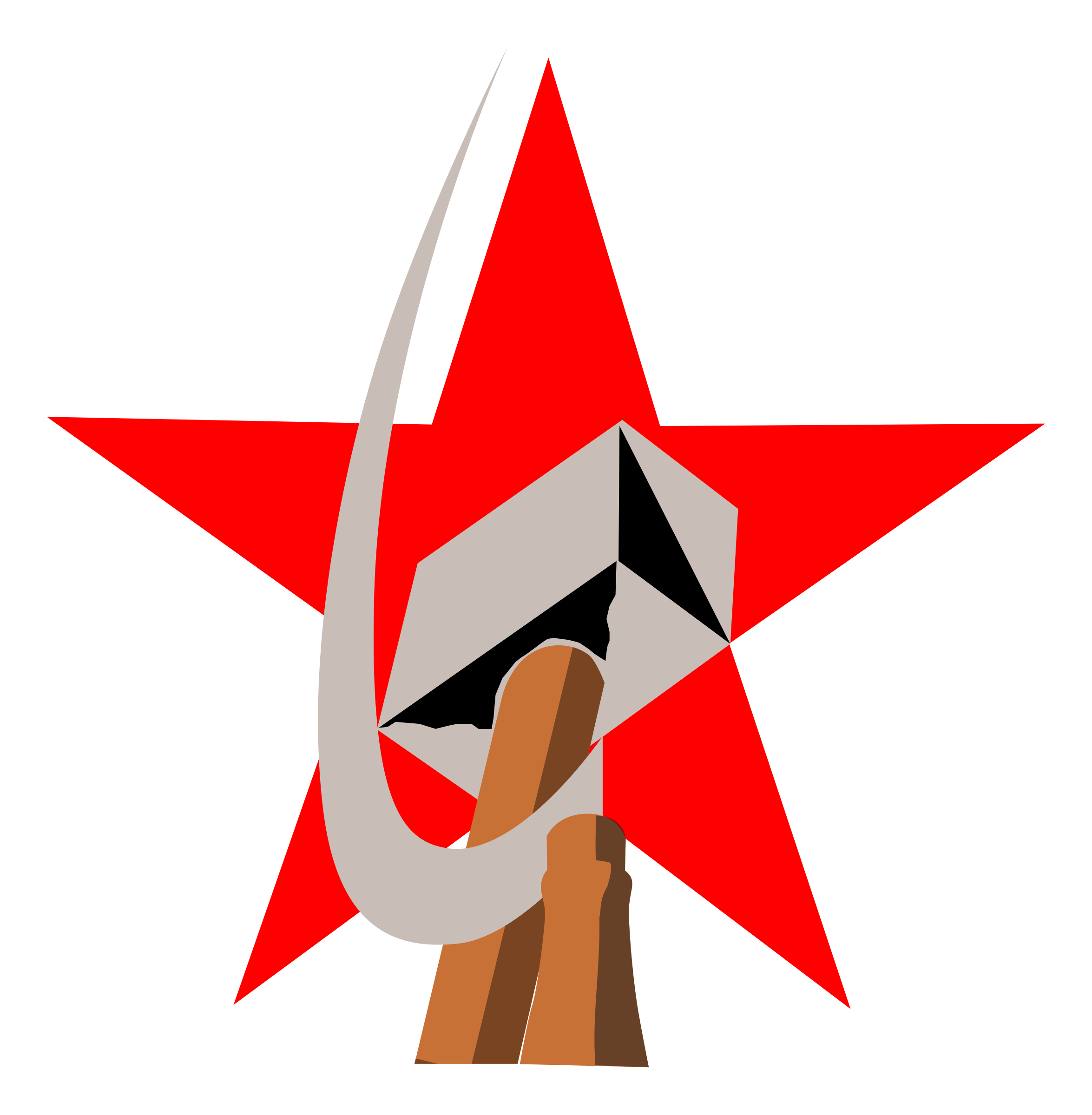 Shaded sun clipart picture transparent library hammer and sickle in star by worker | Socialist & Radical Left ... picture transparent library