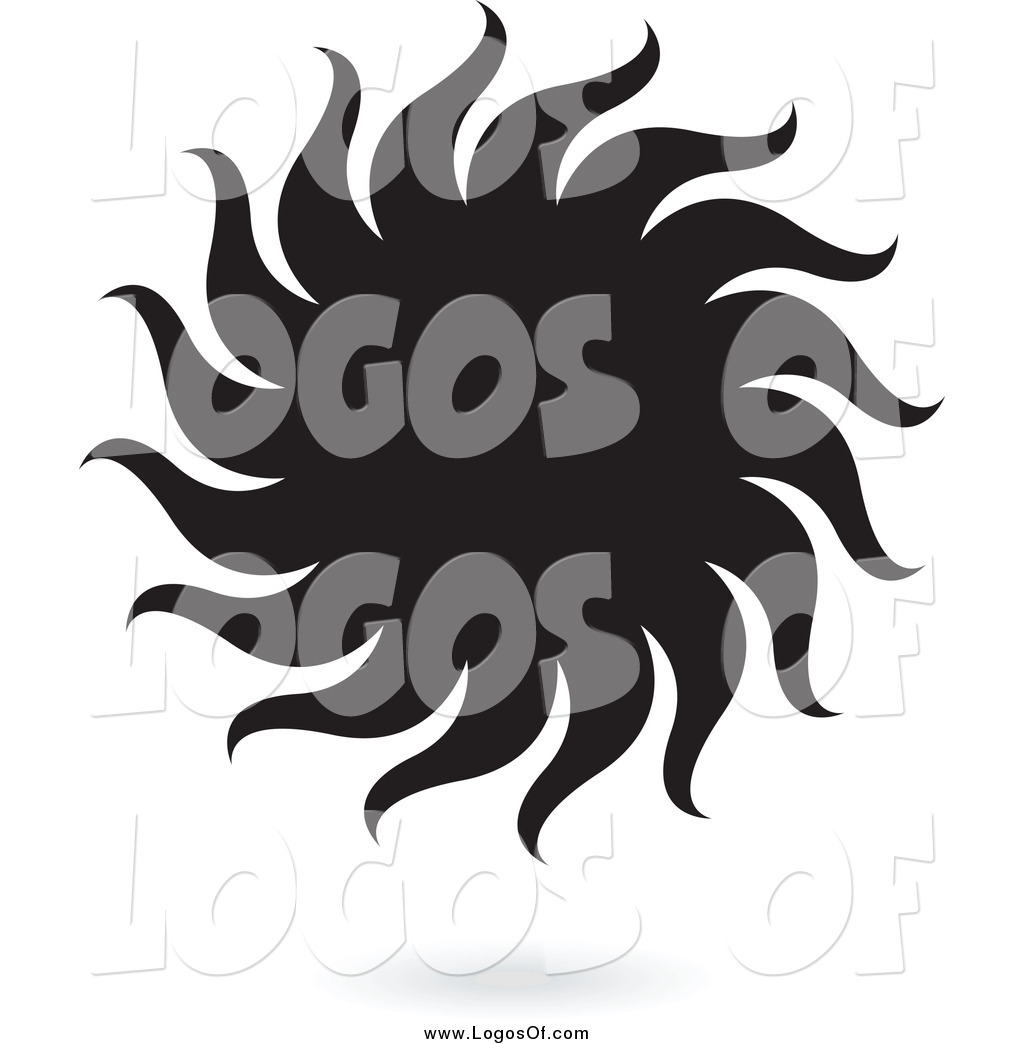 Shadow logo clipart clip art transparent download Vector Clipart of a Black Sun and Shadow Logo by cidepix - #1136 clip art transparent download