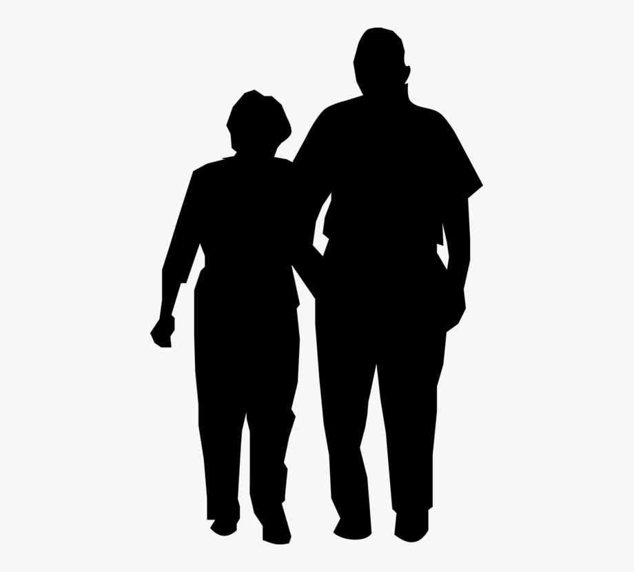 Shadow silhouette clipart jpg freeuse library Shadow Clipart Couple - Old Couple Silhouette Png #237932 ... jpg freeuse library