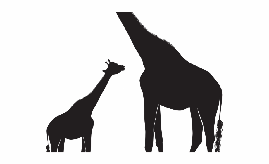 Shadow silhouette clipart banner library stock Giraffe Clipart Shadow - Mom And Baby Giraffe Silhouette ... banner library stock