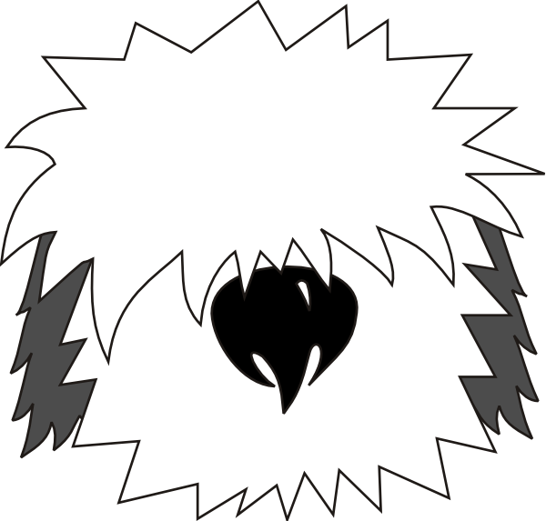 Shaggy dog clipart image black and white Awesome shaggy dog clipart | clip art | Pinterest | Clipart images ... image black and white