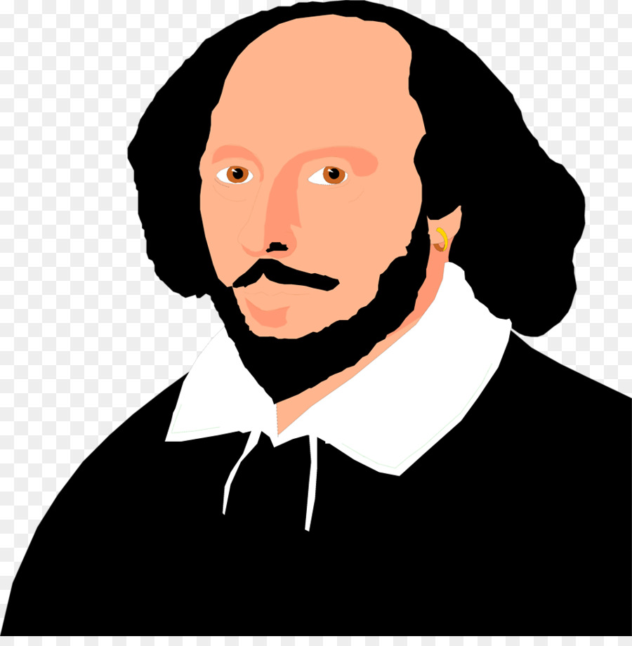 Shakespeare face clipart vector transparent download Man Cartoon clipart - Face, Hair, Man, transparent clip art vector transparent download