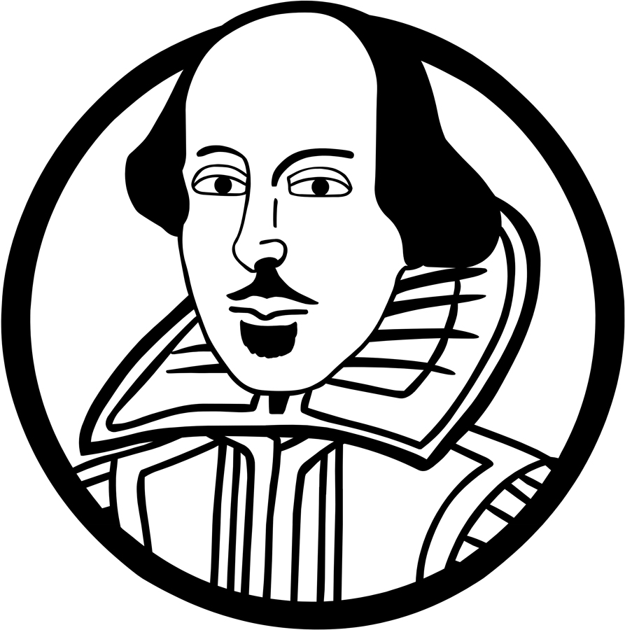 Shakespeare face clipart graphic black and white download Free William Shakespeare Cliparts, Download Free Clip Art ... graphic black and white download