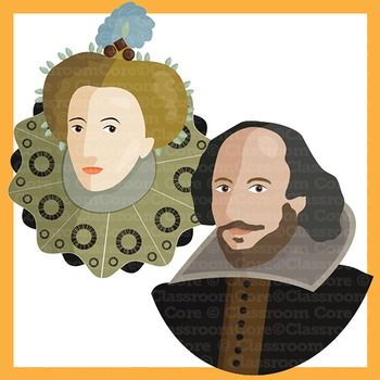 Shakespearian time clipart picture freeuse Clip Art: Shakespeare, Renaissance Era, Queen Elizabeth ... picture freeuse