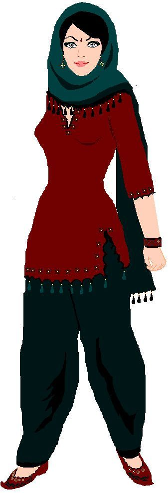 Shalwar kameez clipart picture library stock Shalwar kameez clipart 7 » Clipart Portal picture library stock
