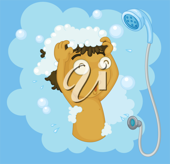 Shampooing clipart clip free Illustration of a boy shampooing #532264 | iCLIPART for Schools clip free