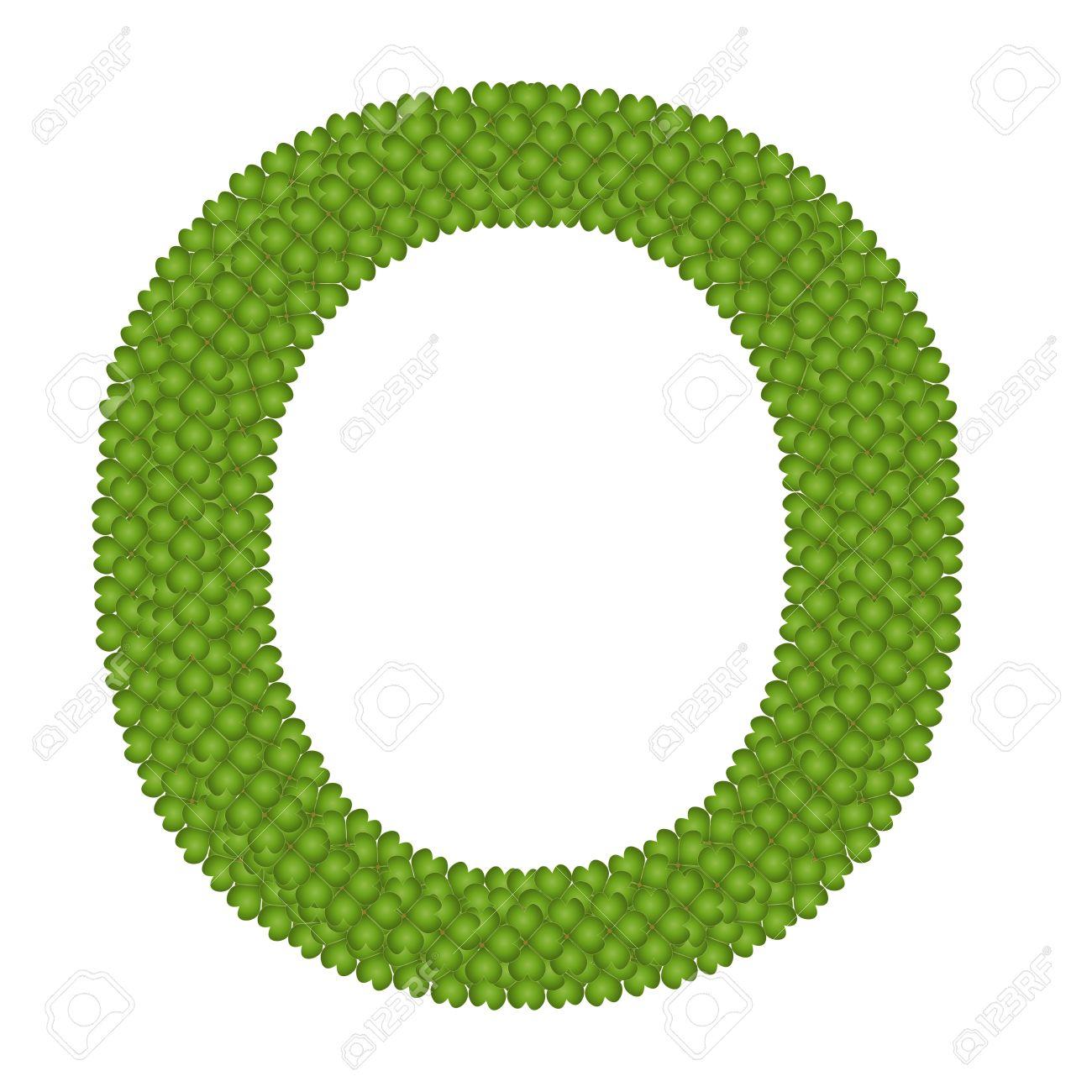 Shamrock alphabet letter clipart clip art Letter O, Alphabet Letters Made Of Four Leaf Clover Isolated ... clip art