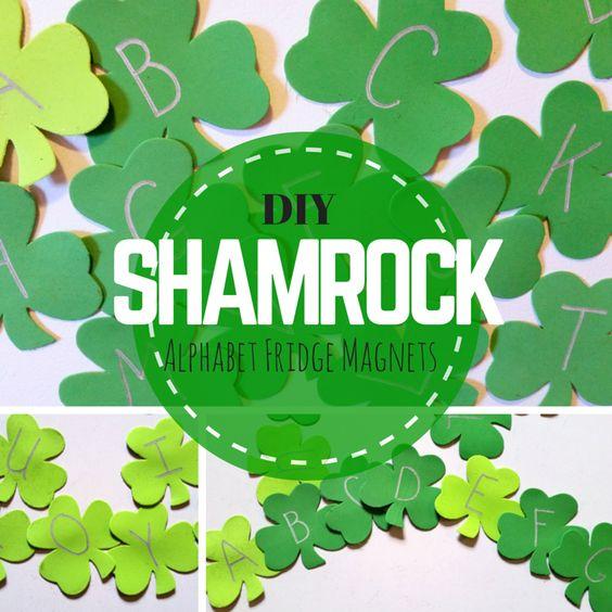 Shamrock alphabet letter clipart jpg free stock DIY Shamrock Alphabet Fridge Magnets | Alphabet, Magnets and DIY ... jpg free stock
