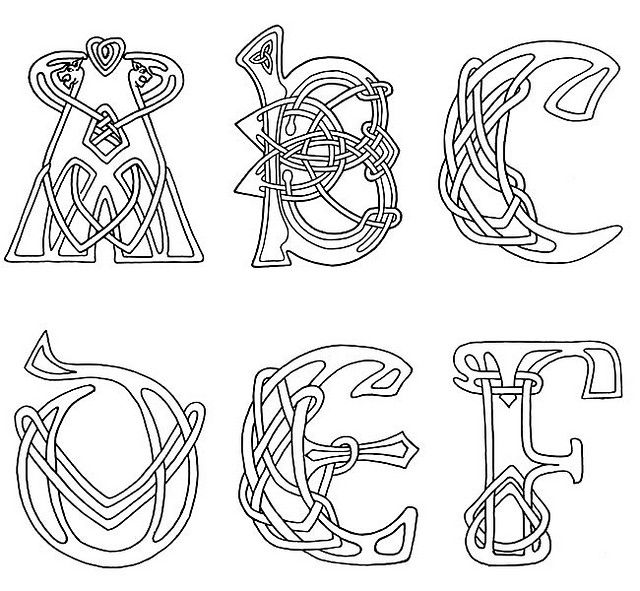 Shamrock alphabet letter clipart picture 1000+ images about nudos celtas on Pinterest | Hand embroidery ... picture
