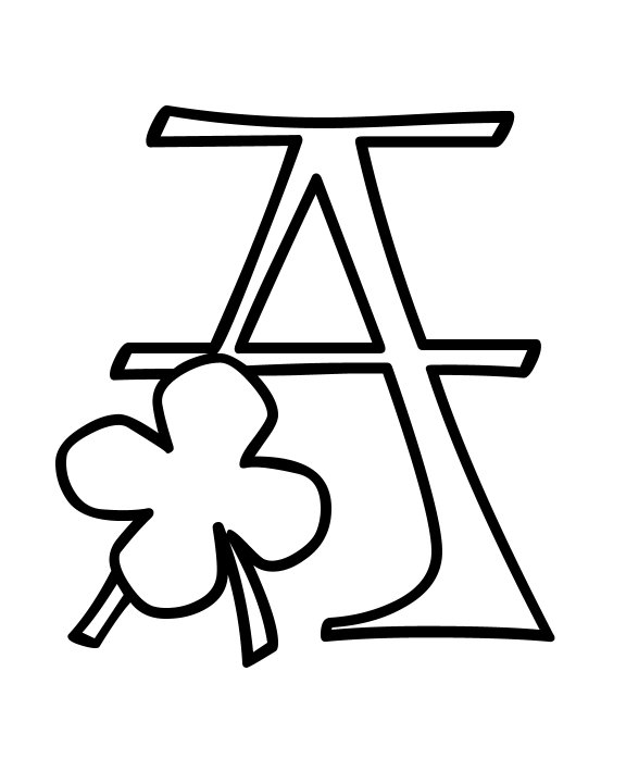 Shamrock alphabet letter clipart picture freeuse Shamrock alphabet letter clipart - ClipartFest picture freeuse